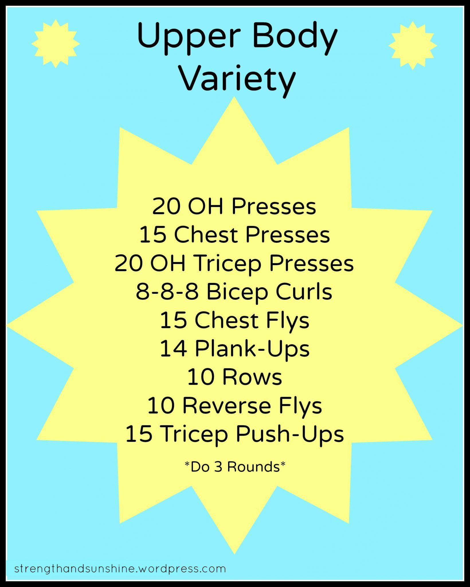 Upper Body Variety