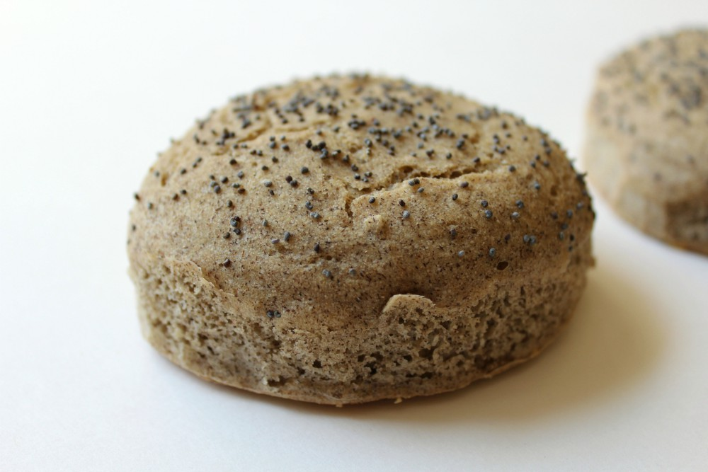 single buckwheat english muffin bun