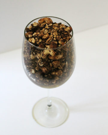 Chocolate Banana Cashew Granola | Strength and Sunshine @RebeccaGF666 Decadent but secretly healthy chocolate banana cashew granola! Chocolate for breakfast? Yes! Also an addicting gluten-free vegan snack recipe you won't be able to keep you hands out of!