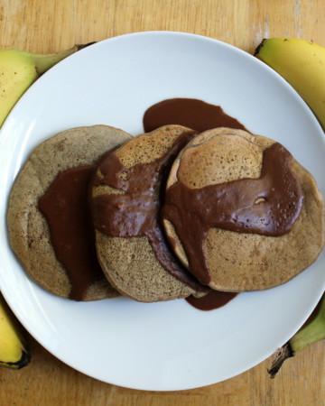 Banana Butterscotch Pancakes   Strength and Sunshine #glutenfree #vegan #pancakes