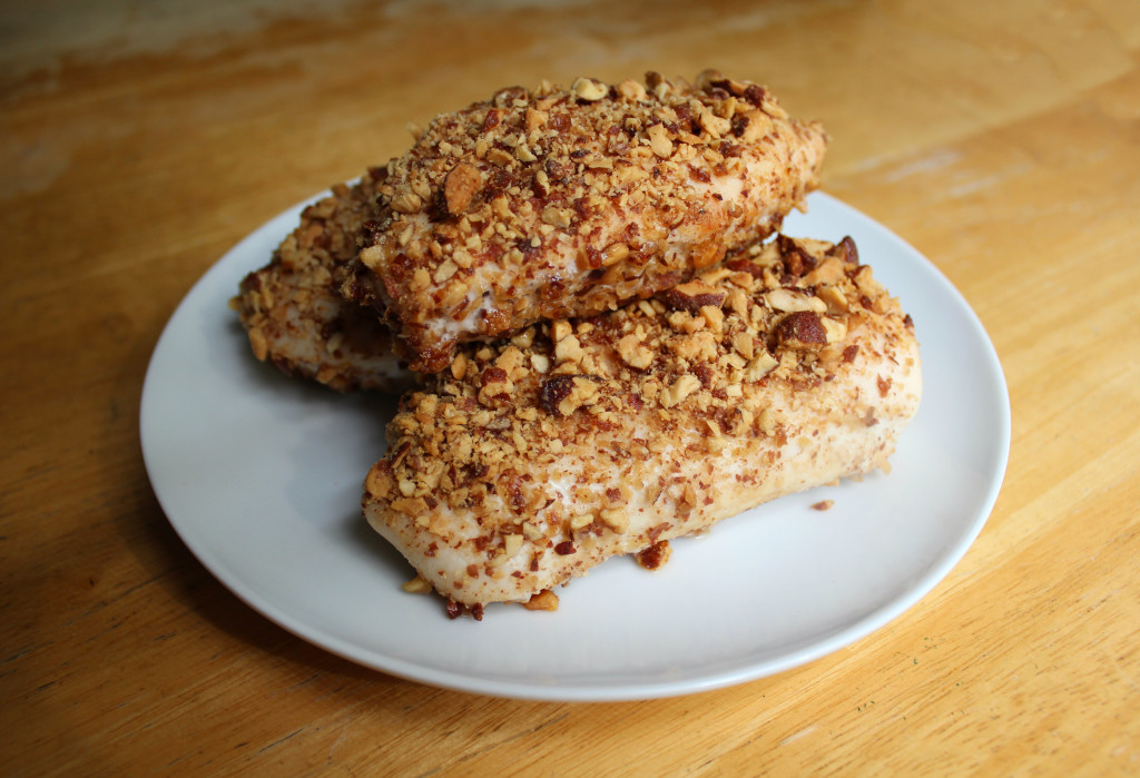 Honey Roasted Vanilla Almond Crusted Chicken | Strength and Sunshine