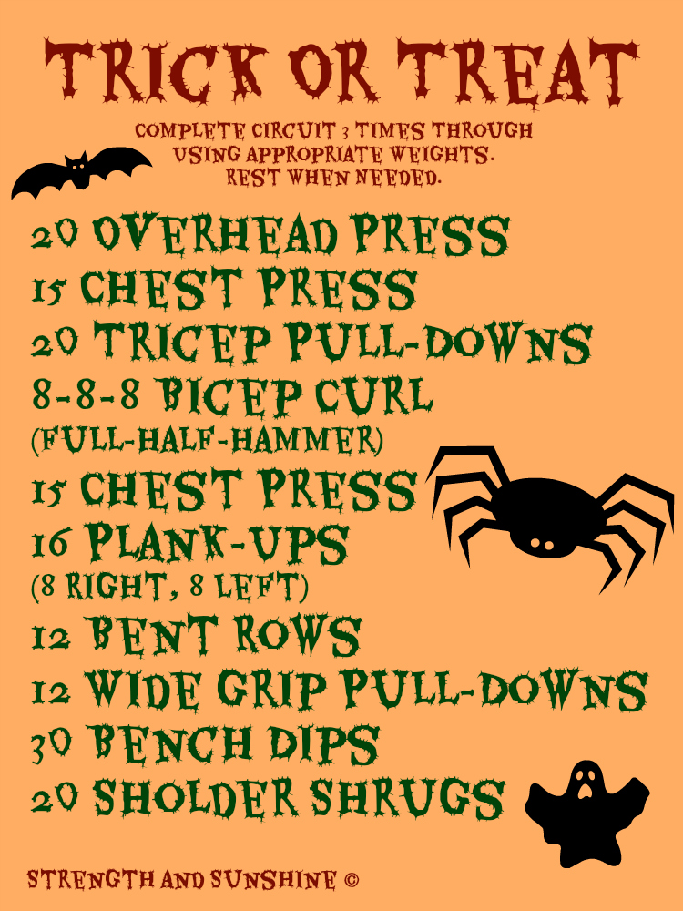 Trick Or Treat | Strength and Sunshine #workout #upperbody #fitness