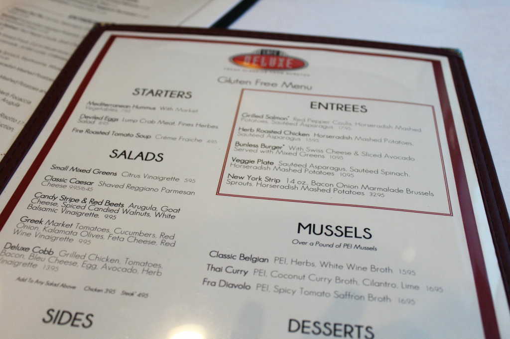 Cafe Deluxe Gluten-Free Menu | Strength and Sunshine