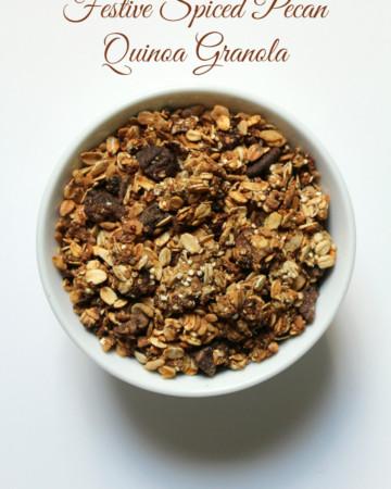Festive Spiced Pecan Quinoa Granola   Strength and Sunshine @RebeccaGF666 #granola #glutenfree #holiday