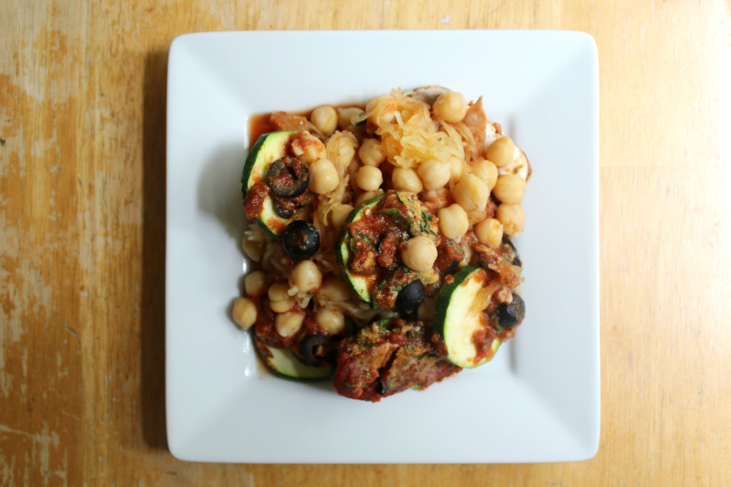 Italian Chickpea Casserole | Strength and Sunshine @RebeccaGF666 #glutenfree #vegan #grainfree #casserole