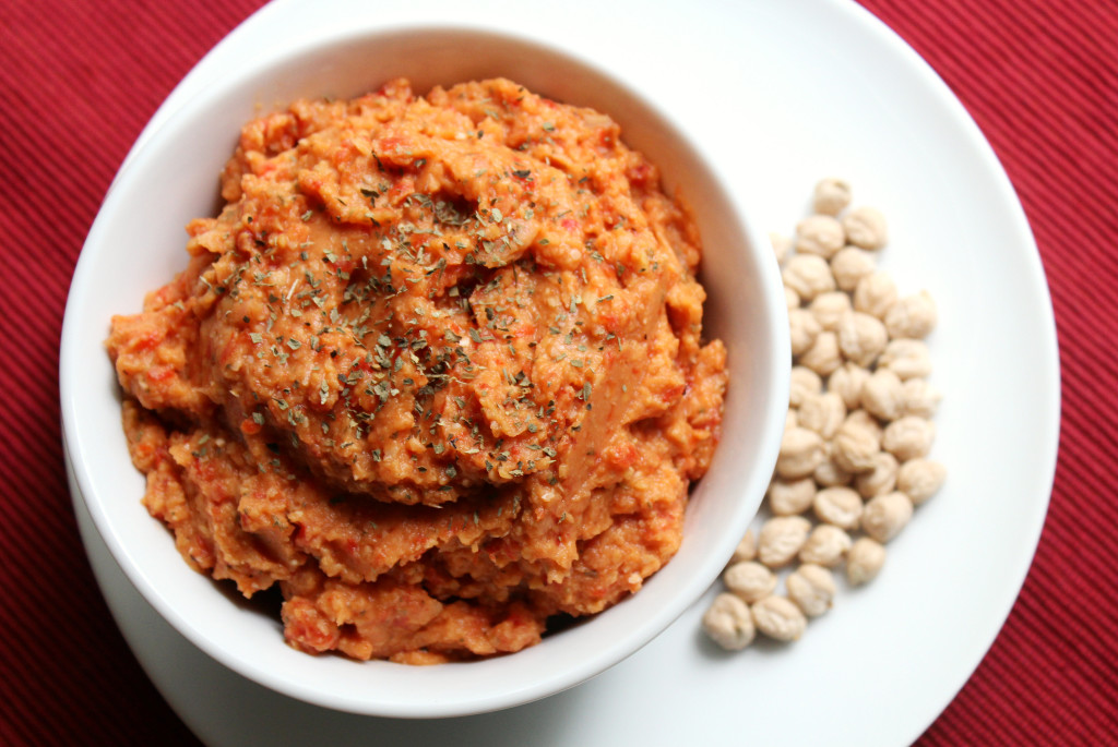 Red Pepper Basil Hummus | Strength and Sunshine @RebeccaGF666 #hummus ...