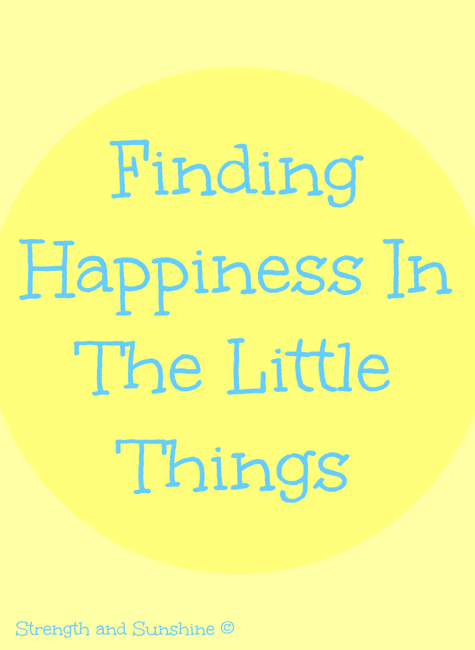 Finding Happiness In The Little Things | Strength and Sunshine @RebeccaGF666 #happiness