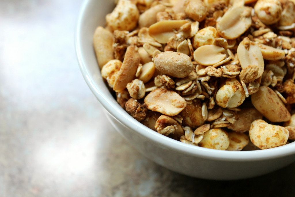 Peanut Butter Puff Granola | Strength and Sunshine @RebeccaGF666 #granola #peanutbutter #glutenfree #vegan #snack #breakfast #healthy