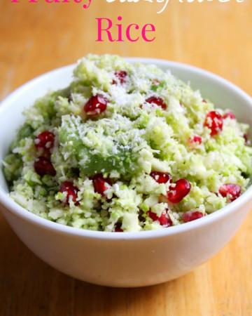 Fruity Cauliflower Rice | Strength and Sunshine @RebeccaGF666 #sidedish #glutenfree #vegan #paleo #grainfree #soyfree #cauliflower