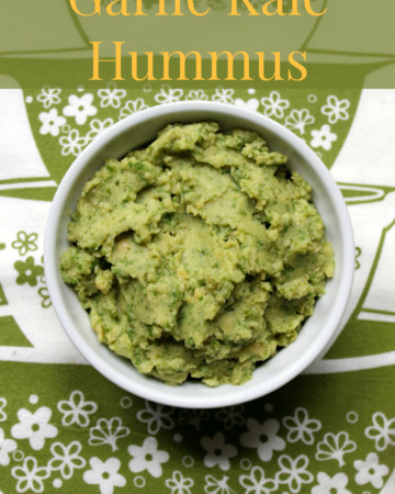 Garlic Kale Hummus | Strength and Sunshine @RebeccaGF666 #hummus #glutenfree #vegan #fatfree #dip