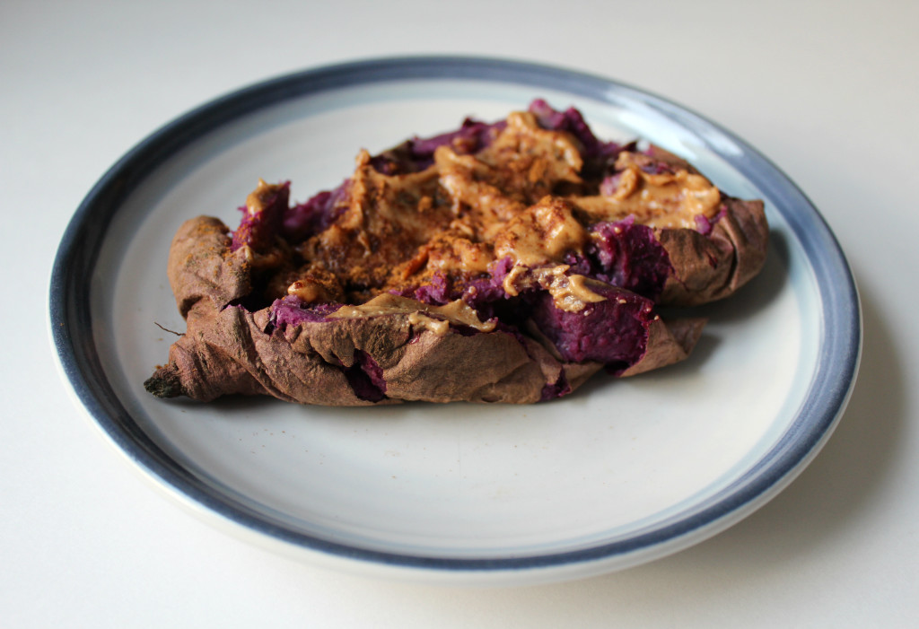 Purple Sweet Potato with Nut Butter | Strength and Sunshine @RebeccaGF666
