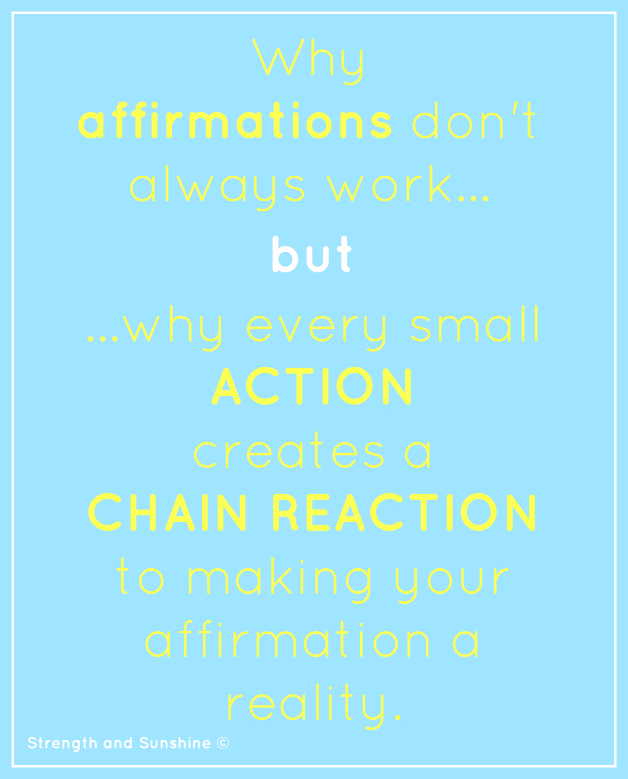 Why Affirmations Don't Always Work | Strength and Sunshine @RebeccaGF666 #powermonday #motivation #affirmations