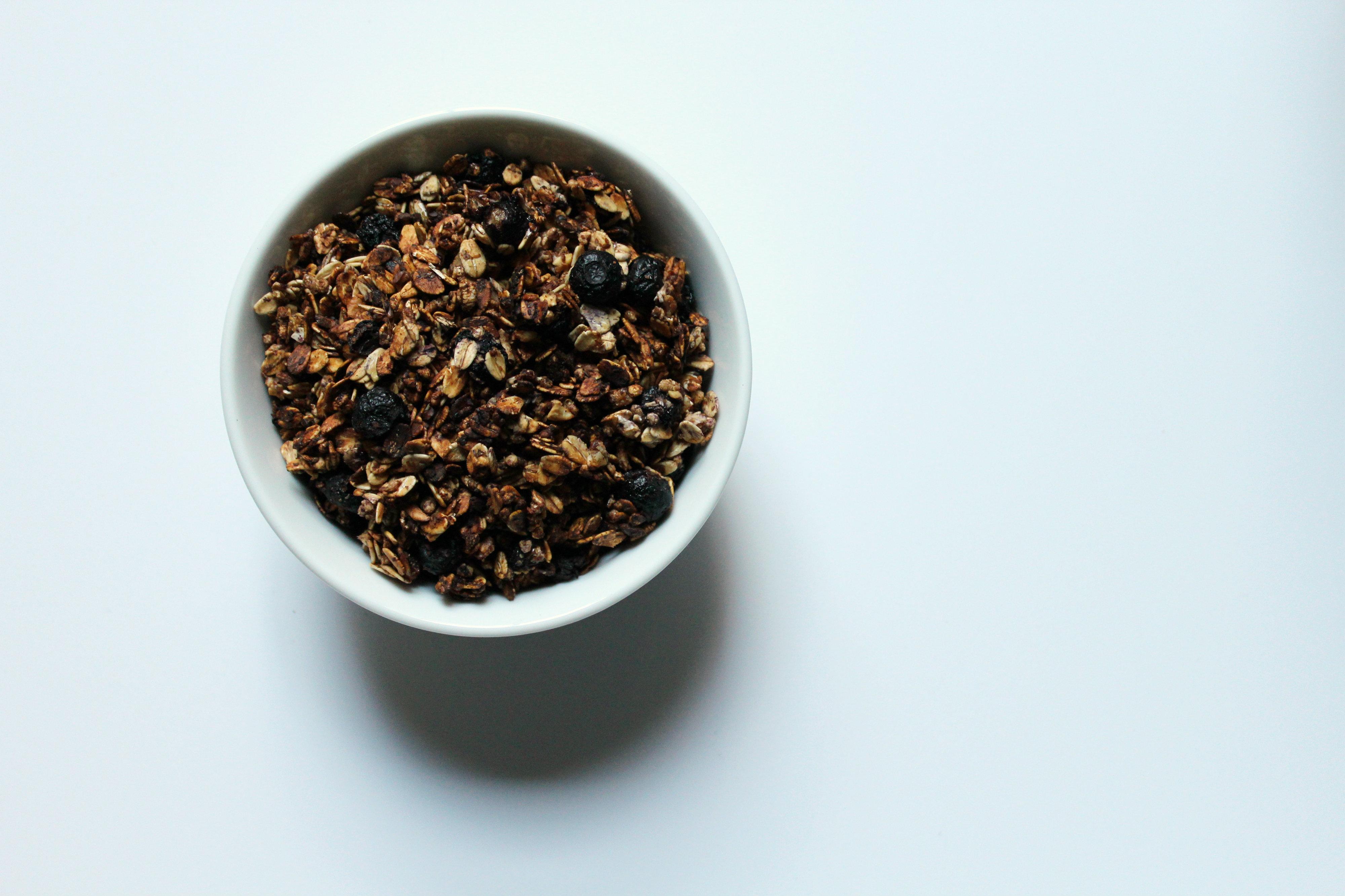 Blueberry Vanilla Flax Granola Strength And Sunshine Rebeccagf666 Breakfast Glutenfree