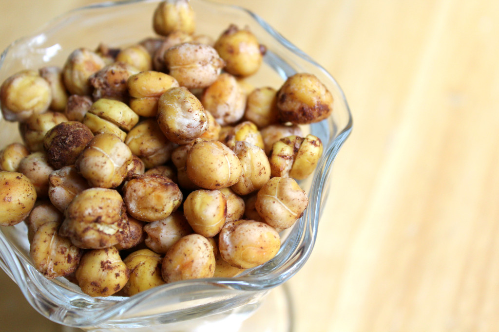 "Crunchy Cinnamon ""Sugar"" Chickpeas 