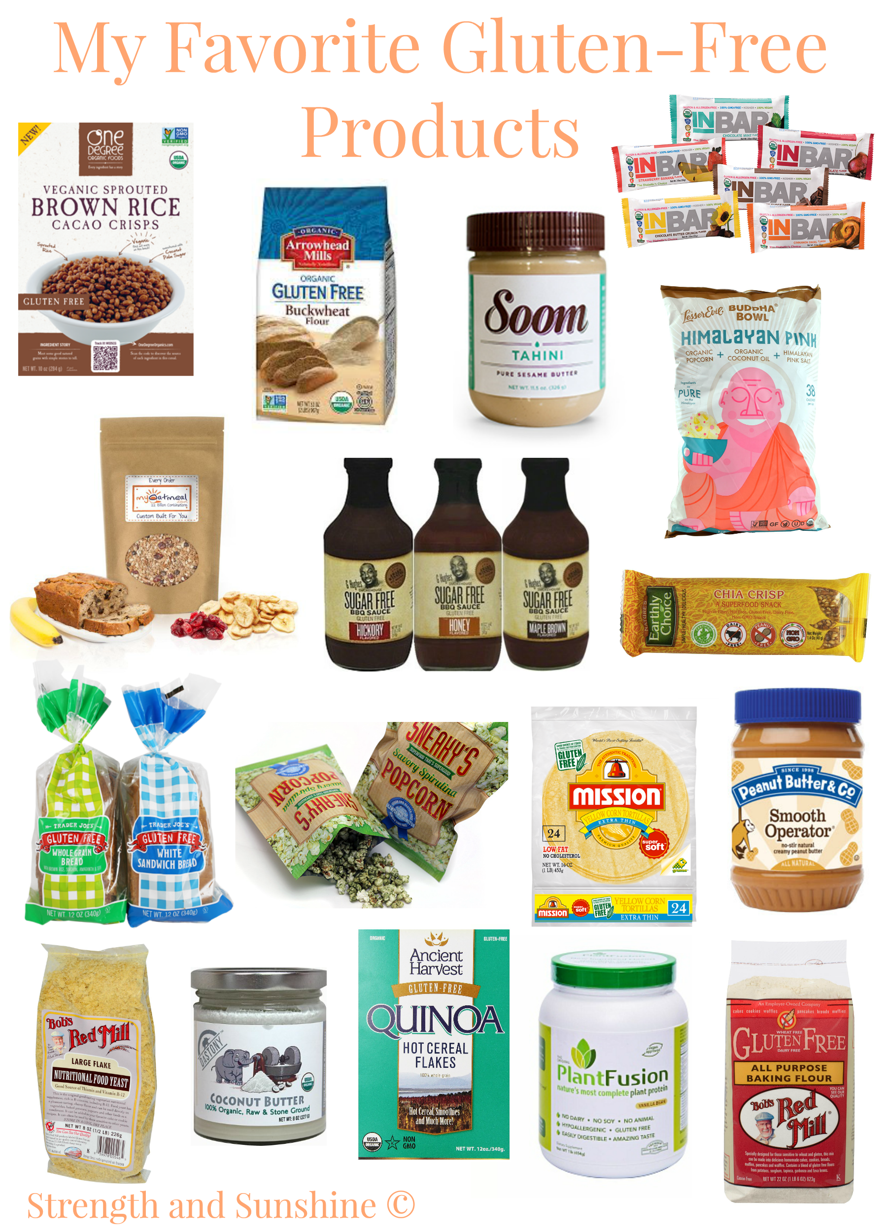 My Favorite Gluten-Free Products | Strength and Sunshine @RebeccaGF666 #glutenfree #celiac