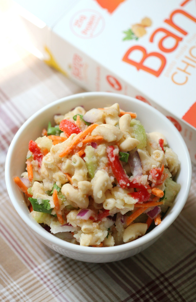 Modern Macaroni Salad | Strength and Sunshine @RebeccaGF666 A modern take on the classic to healthify your summer. Magically grain-free & gluten-free macaroni mixed with fresh summer veggies and a creamy vegan veggie based puree to kick the mayo to the side!