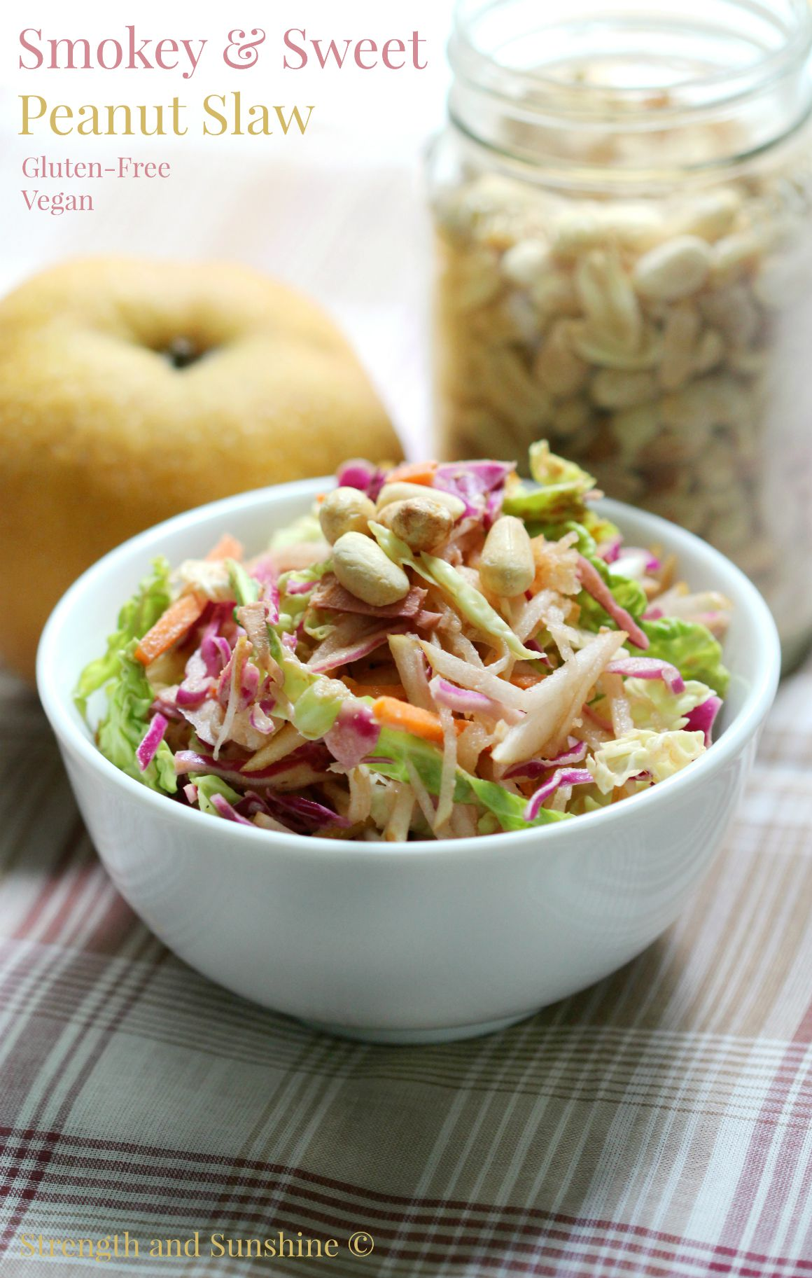 slaw has it all. Crunchy cabbage, crispy Asian pear, shredded carrots ...