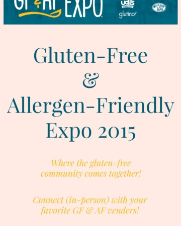 Gluten-Free & Allergen-Friendly Expo 2015   Strength and Sunshine @RebeccaGF666 The best Gluten-Free & Allergen-Friendly expo where celiacs, gluten & food allergic, autoimmune suffers alike can gather for a safe consumer to brand in-person experience! The GFAF Expo is the chance to connect with manufacturers, educators, services, and the community as a whole!