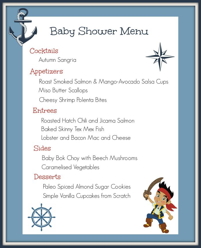 Baby Shower Menu | Strength and Sunshine @RebeccaGF666