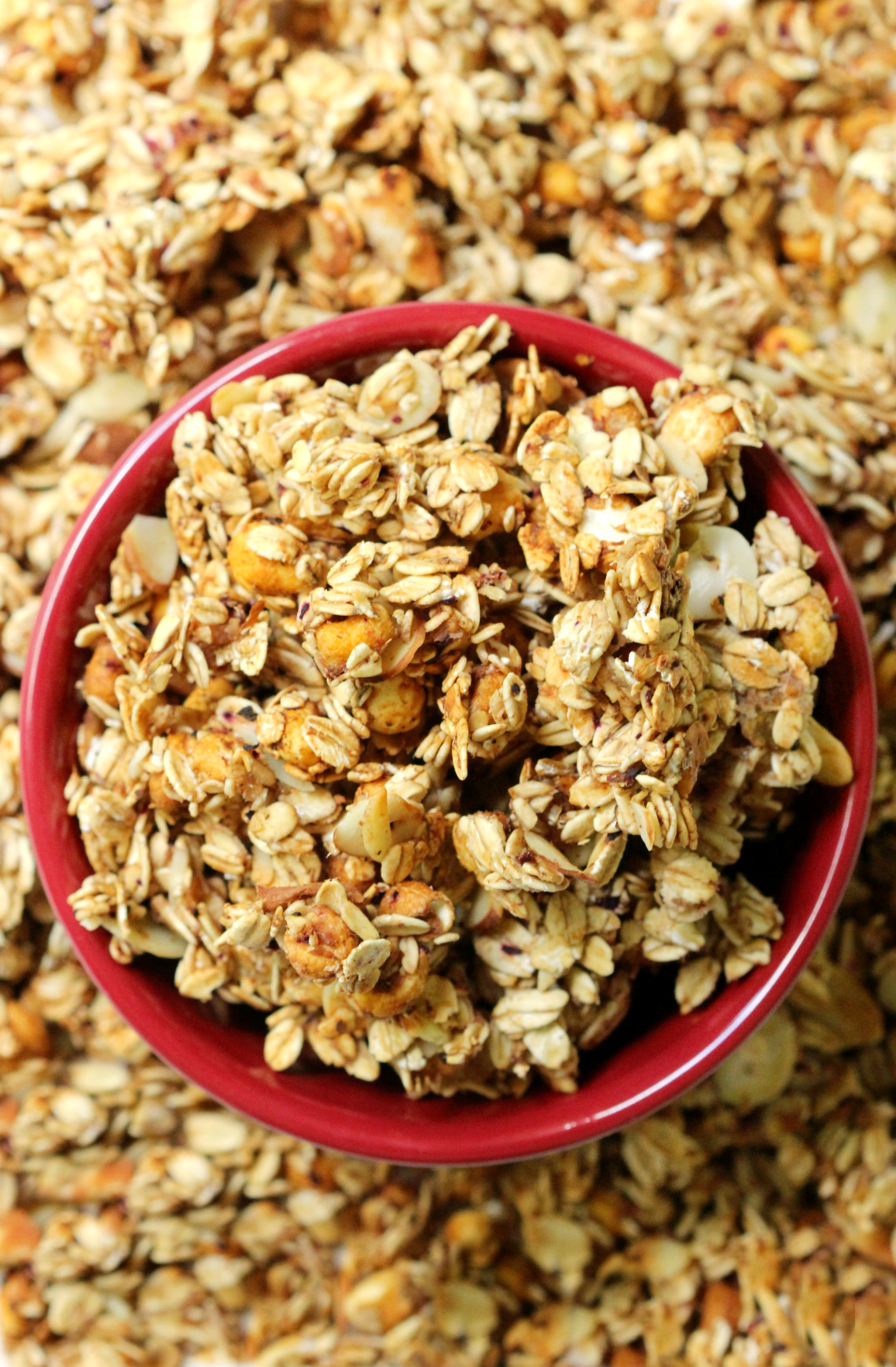 Caramel Apple Granola | Strength and Sunshine @RebeccaGF666 An easy granola with all the seasonal flavors; healthy, gluten-free, vegan, and sugar-free. Caramel Apple Granola is perfect for breakfast, snacking, or topping a dessert!