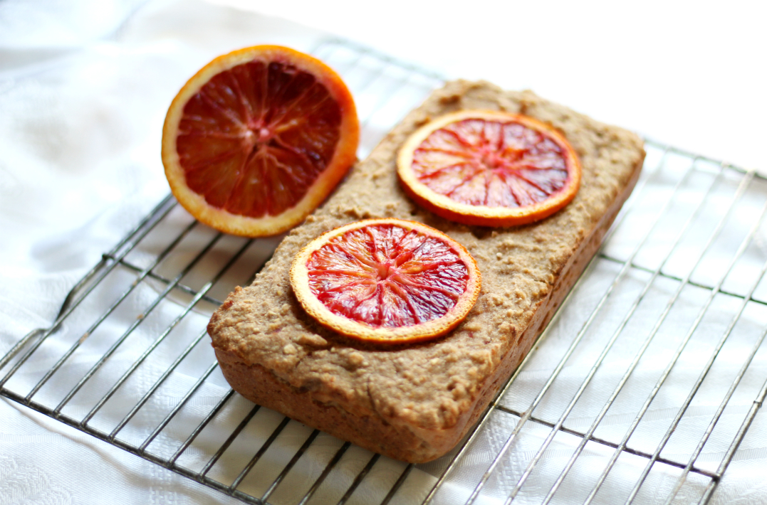"Blood Orange Quick Bread | Strength and Sunshine @RebeccaGF666 A unique, sweet, and zesty quick bread that couldn't be easier! Blood orange, with its ""raspberry-like"" citrus notes makes the perfect addition to this wintery gluten-free & vegan quick bread! Perfect for breakfast, dessert, or a sweet snack!"