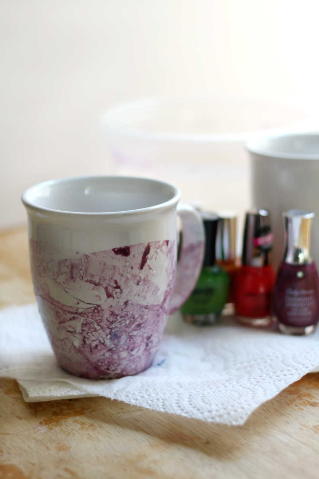 Diy marbled nail polish mugs diy marbled nail polish mugs strength and sunshine rebeccagf666 easy diy marbled nail polish solutioingenieria Image collections