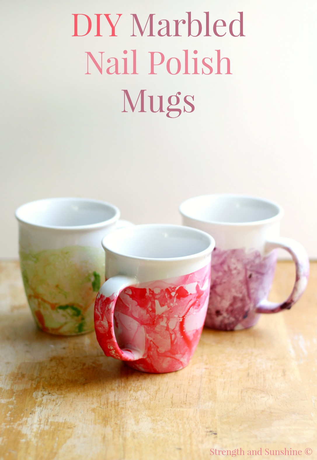 diy marbled nail polish mugs strength and sunshine rebeccagf666 easy diy marbled nail polish