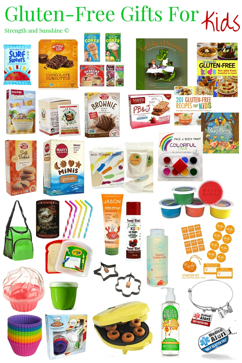 Gluten-Free Gifts For Kids | Strength and Sunshine @RebeccaGF666 Fun and safe gluten-free gifts for kids! From food, storage, play, cooking, hygiene, reading, and safety, you can find the perfect gift for any young child with celiac disease!