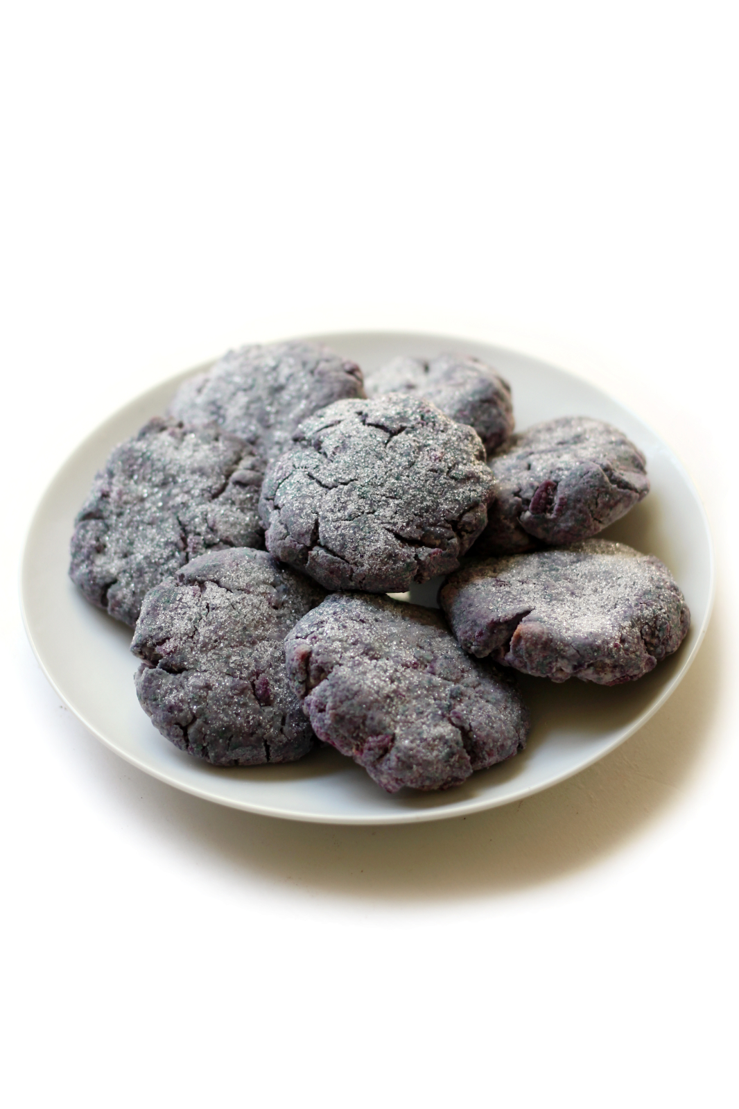 Purple Sweet Potato Sugar Cookies | Strength and Sunshine @RebeccaGF666 No need to decorate these sugar cookies! Purple Sweet Potato Sugar Cookies are naturally purple, gluten-free, vegan, and sugar-free! You would never know that these thick & soft dessert cookies are secretly healthy and loaded with fun!