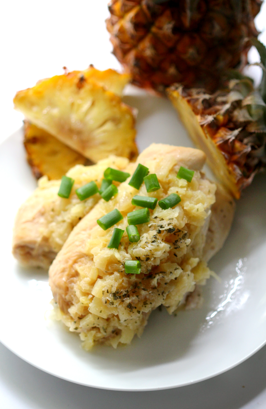 Slow Cooker Macadamia Pineapple Chicken | Strength and Sunshine @RebeccaGF666 Set your slow cooker and when you come home you'll be taking a trip to the tropics. Slow Cooker Macadamia Pineapple Chicken is the perfect balance of sweet and savory with a tropical flare. A delicious and easy gluten-free paleo dinner recipe.