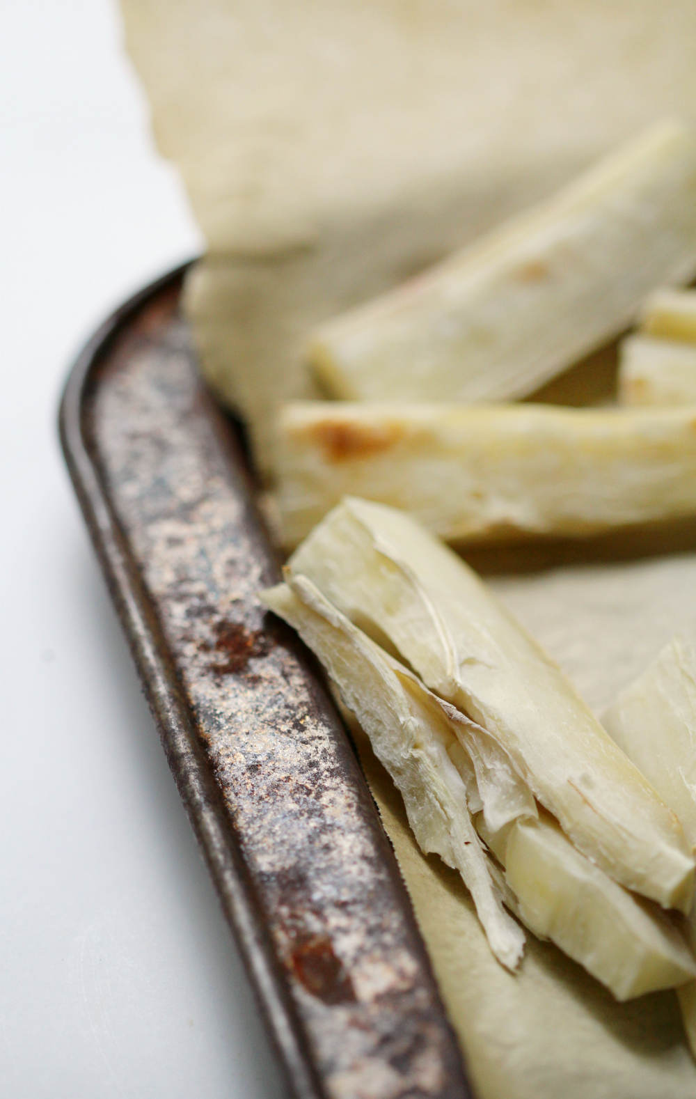 "Baked Yucca (Cassava) Fries | Strength and Sunshine @RebeccaGF666 Don't let the ""tough"" exterior scare you. Yucca (Cassava) root is one delicious plant starch to add to your diet. When prepared properly, you can make the best baked , crispy, creamy, yucca (cassava) fries! Gluten-free, paleo, vegan, and Whole 30 approved side dish!"