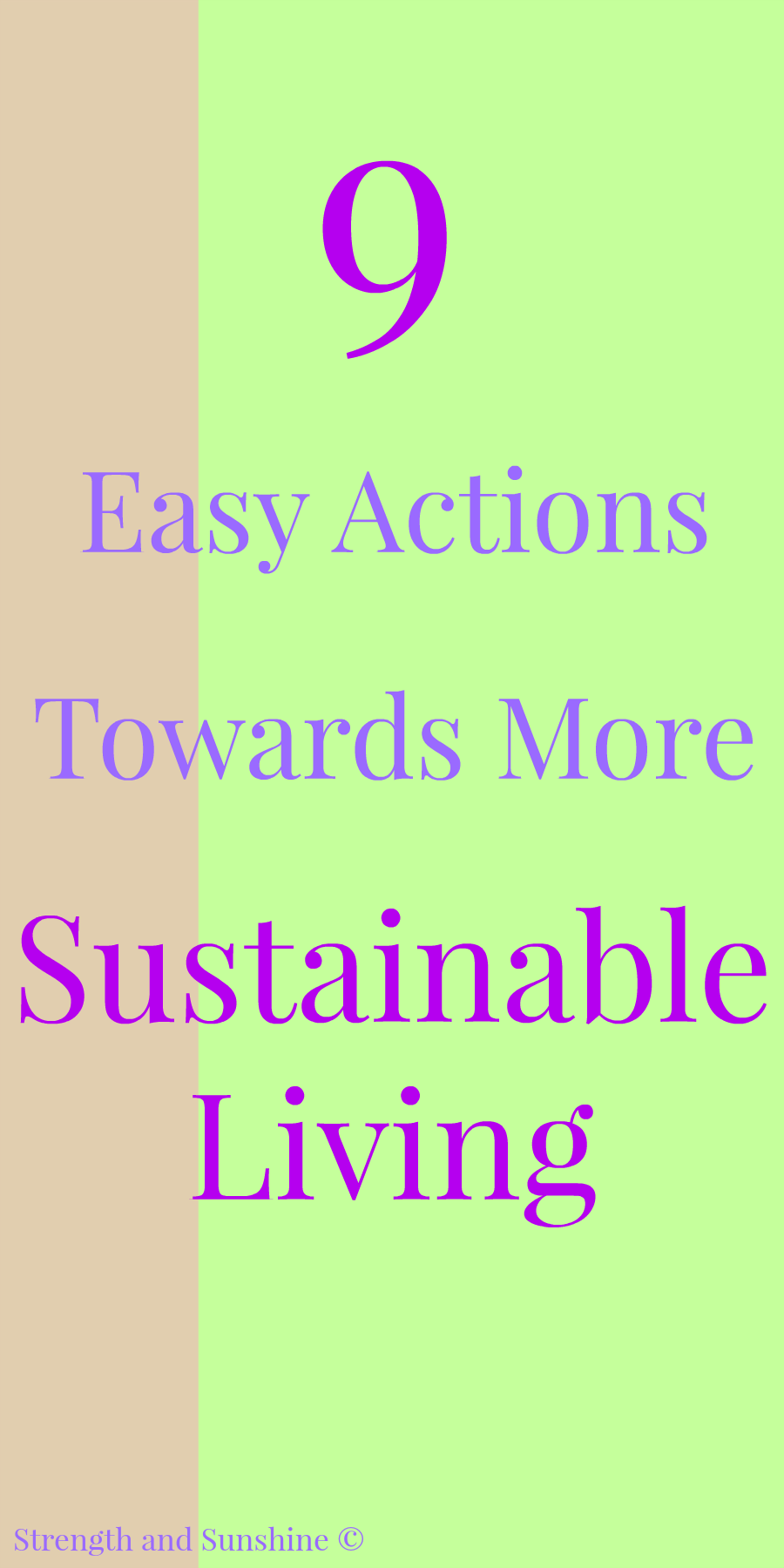 9 Easy Actions Towards More Sustainable Living | Strength and Sunshine @RebeccaGF666 9 easy and actionable steps anyone can take toward more sustainable living. Not only can we improve our impact on the environment, society, and health, but also our happiness! ad #TetraPak #RenewableLiving