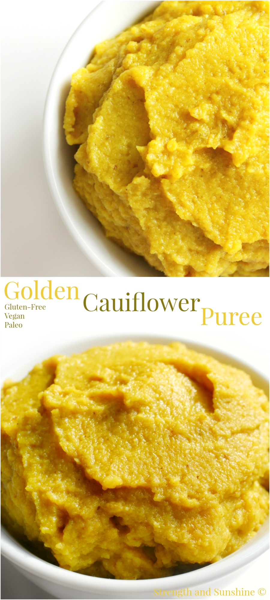 Golden Cauliflower Puree | Strength and Sunshine @RebeccaGF666 A simple golden cauliflower puree with golden beets, Indian spices, and coconut milk. A healing and nourishing side dish recipe for gluten-free, vegan, and paleo eaters alike.