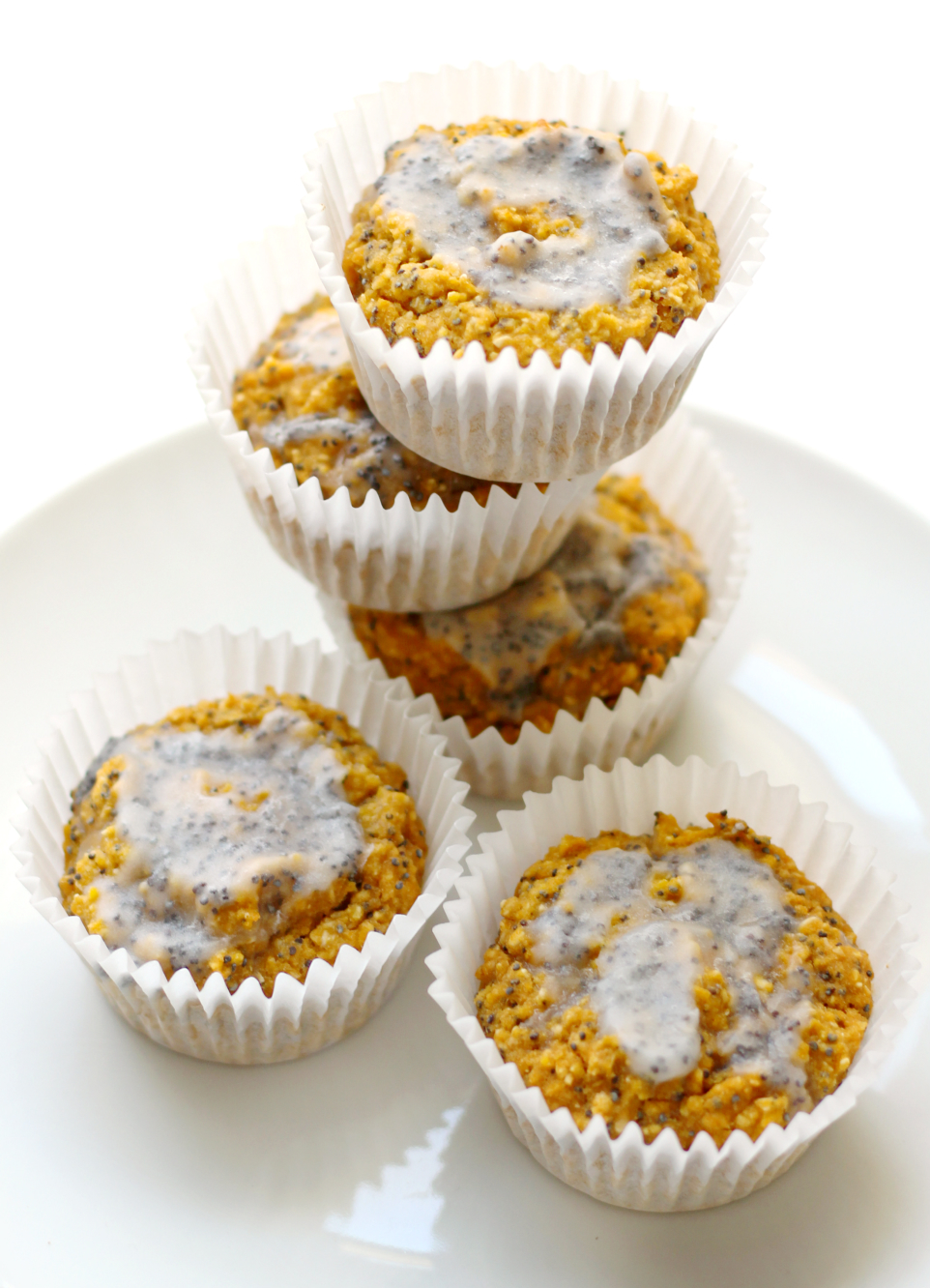 Lively Lemon Poppy Seed Muffins | Strength and Sunshine @RebeccaGF666 It's always springtime with these vibrant, healthy, lively lemon poppy seed muffins! A fun, veggie-packed, gluten-free, vegan breakfast or snack recipe that will leave you feeling happy and bright!