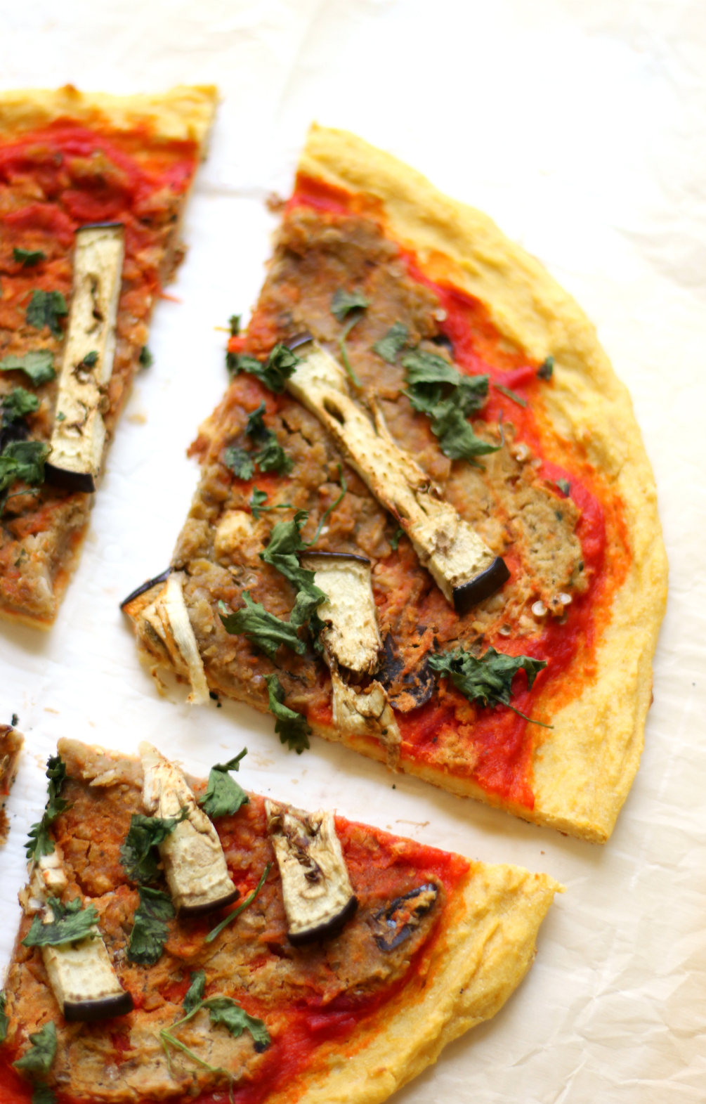 Levantine Socca Pizza | Strength and Sunshine @RebeccaGF666 Combining Levantine flavors to create a delicious gluten-free, grain-free, nut-free, vegan pizza recipe baked in a cast iron skillet! Levantine Socca Pizza is the healthy exotic twist you need to spice up pizza night!