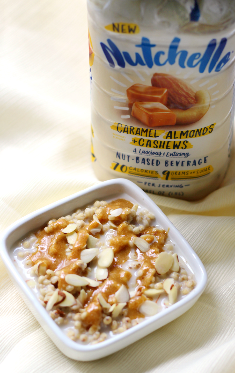 Caramel Almond Sorghum Porridge | Strength and Sunshine @RebeccaGF666 A delicious, healthy, whole grain breakfast porridge that's gluten-free and vegan. This Caramel Almond Sorghum Porridge will put your typical oatmeal to shame!