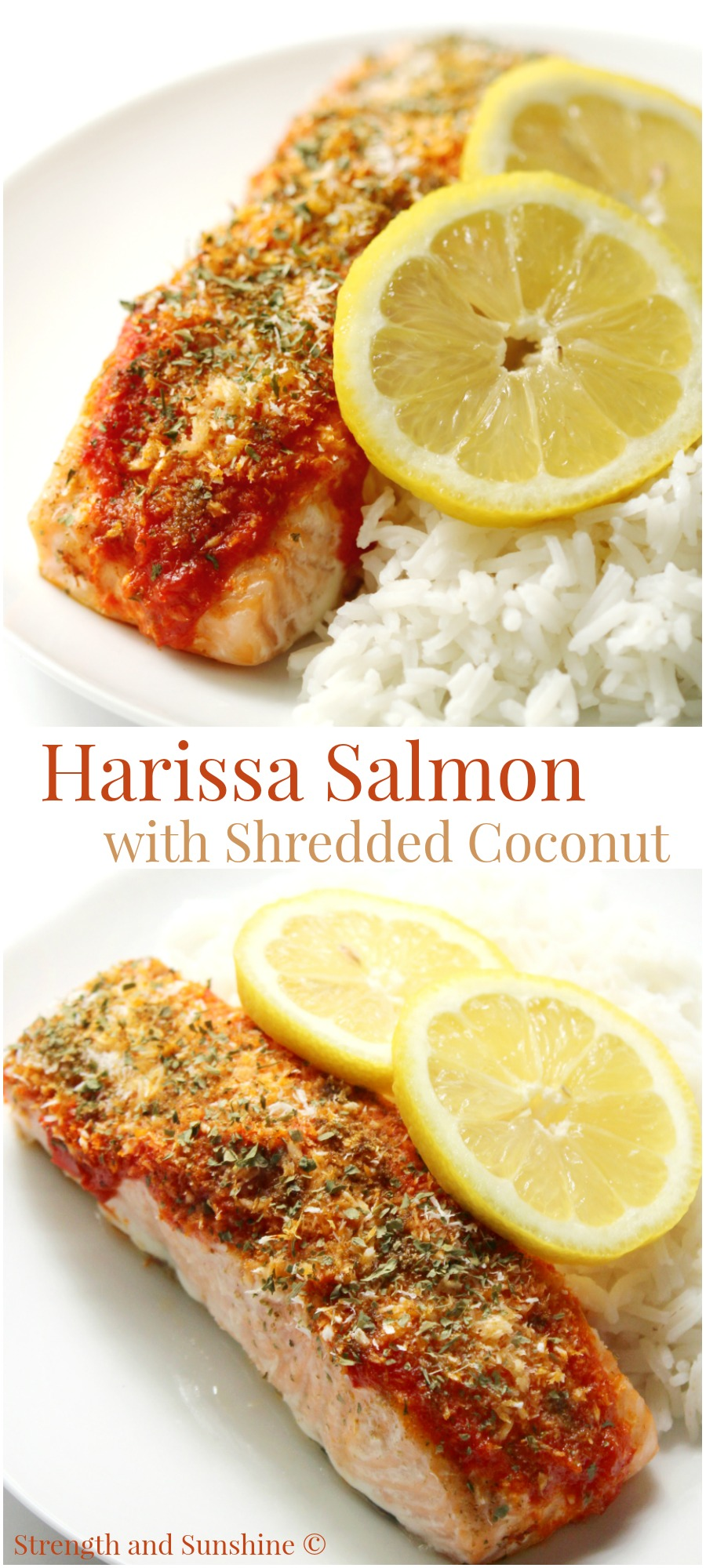 salmon with harissa sauce