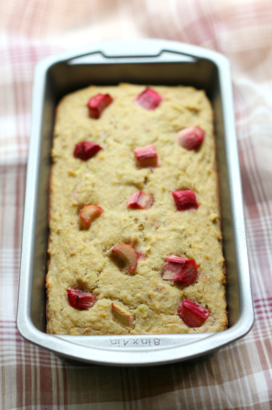Rhubarb Orange Quick Bread | Strength and Sunshine @RebeccaGF666 Tart, sweet and citrusy, this Rhubarb Orange Quick Bread is a lovely, healthy, gluten-free, and vegan recipe to use up summer's bounty. Whole grain and protein-packed by using quinoa and sorghum flour, you'll want to bake up a loaf for every meal!