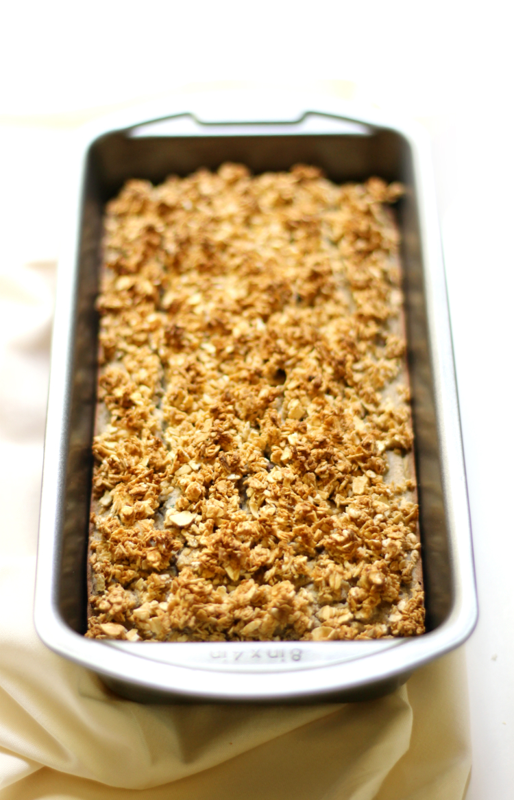 Gluten-Free Zucchini Bread with Maple Oat Crumble | Strength and Sunshine @RebeccaGF666 A classic with a twist! Gluten-Free Zucchini Bread with Maple Oat Crumble! A vegan, healthy, and more delicious way to bake your favorite summer quick bread recipe. Moist slices of zucchini bread with the comforting flavors of warm maple and oven-toasted oats!