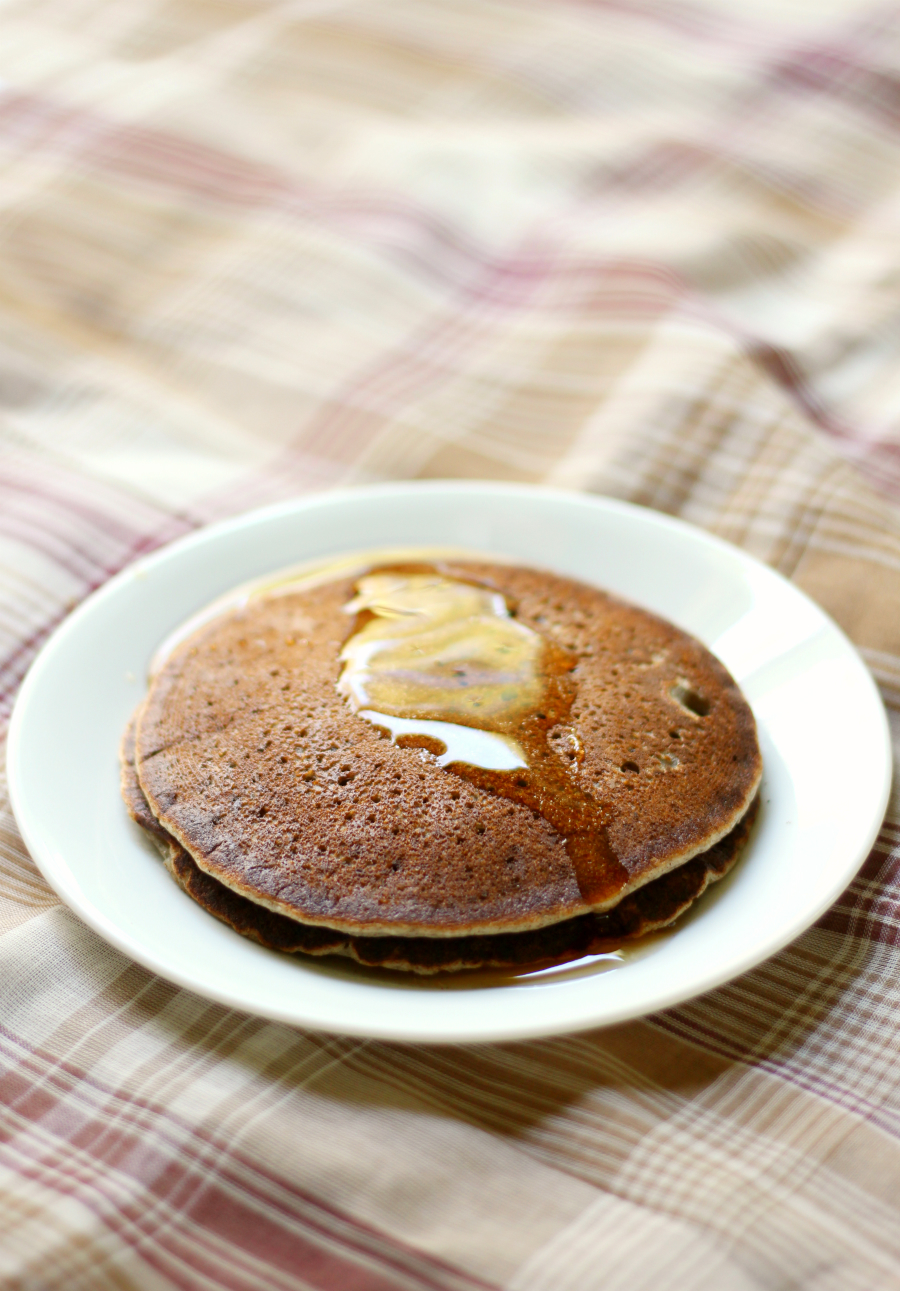 Banana Pumpkin Pancakes | Strength and Sunshine @RebeccaGF666 A sweet and healthy seasonal breakfast recipe for a lazy and cold weekend morning! Banana Pumpkin Pancakes that are gluten-free, vegan, allergy-free, and nut-free making them perfect for any hungry mouth that needs feeding!