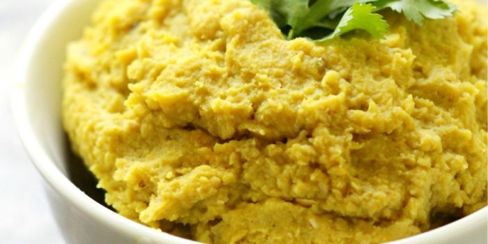 Healing Indian Eggplant Hummus   Strength and Sunshine @RebeccaGF666 A hummus that heals! This Healing Indian Eggplant Hummus is a perfect blend of roasted eggplant, chickpeas, and Indian spices like turmeric. It's gluten-free, vegan, and fat-free, making it a delicious snack recipe for dipping or spreading!