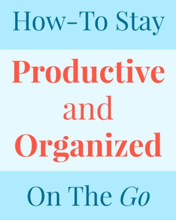 How-To Stay Productive & Organized On The Go | Strength and Sunshine @RebeccaGF666 Always on the go with a to-do list a mile long, papers to write, emails to send, notes to jot down? Don't fret! You can stay productive & organized on the go so you don't fall behind in your busy and fast-paced life! ad