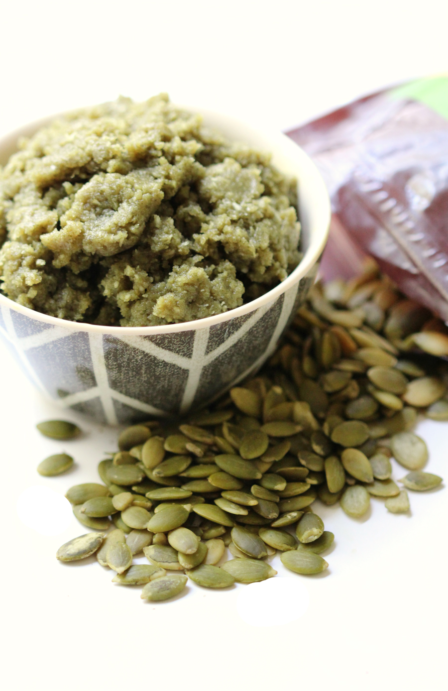 Raw Coconut Pumpkin Seed Butter | Strength and Sunshine @RebeccaGF666 A sweetly delicious and allergy-friendly spread for the ultimate snacking! A simple Raw Coconut Pumpkin Seed Butter recipe that's gluten-free, vegan, paleo, and nut-free! Use it as a dip or spread for fruit, toast, maybe just eaten with a spoon!