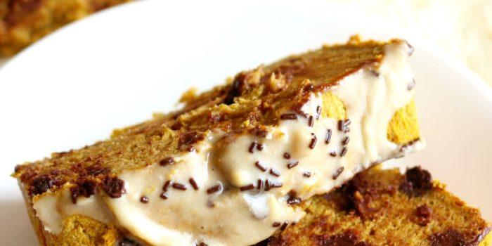 Tahini Chocolate Chip Pumpkin Bread