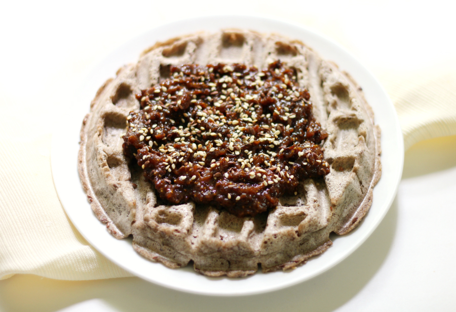 Maple Walnut Waffles Recipe — Dishmaps