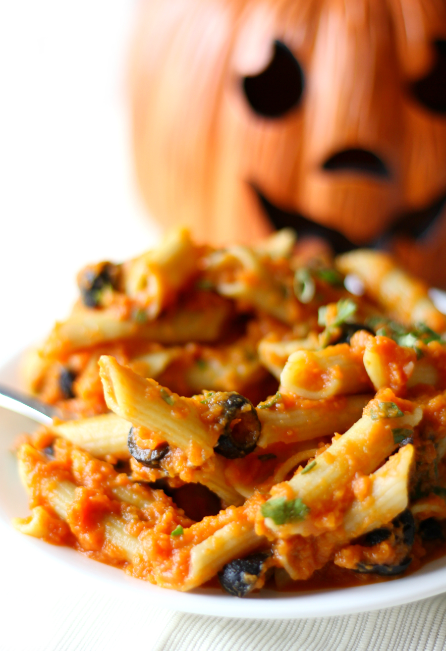 Creamy Autumn Pumpkin Pasta | Strength and Sunshine @RebeccaGF666 A Creamy Autumn Pumpkin Pasta recipe that brings you all the healthy comfort of the season. Gluten-free, nut-free, and vegan, this easy & quick, savory seasonal dinner will warm your soul from the inside out!