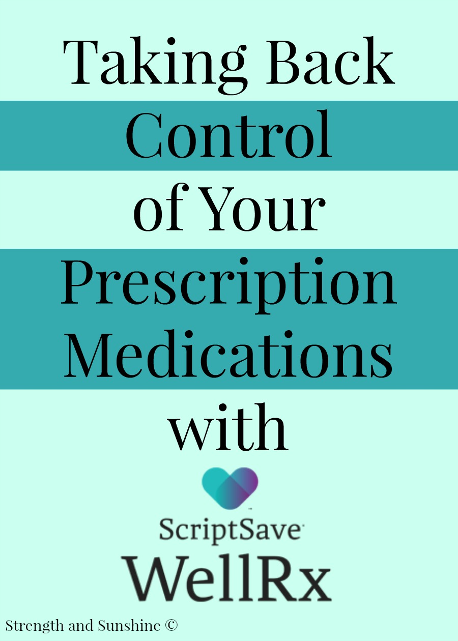 Taking Back Control Of Your Prescription Medications | Strength and Sunshine @RebeccaGF666 You don't always get to decide if maintaining your health and safety requires the use of prescription medications. Now you can stay in control of them from cost to location and have more peace of mind with the help of ScriptSave® WellRx. AD