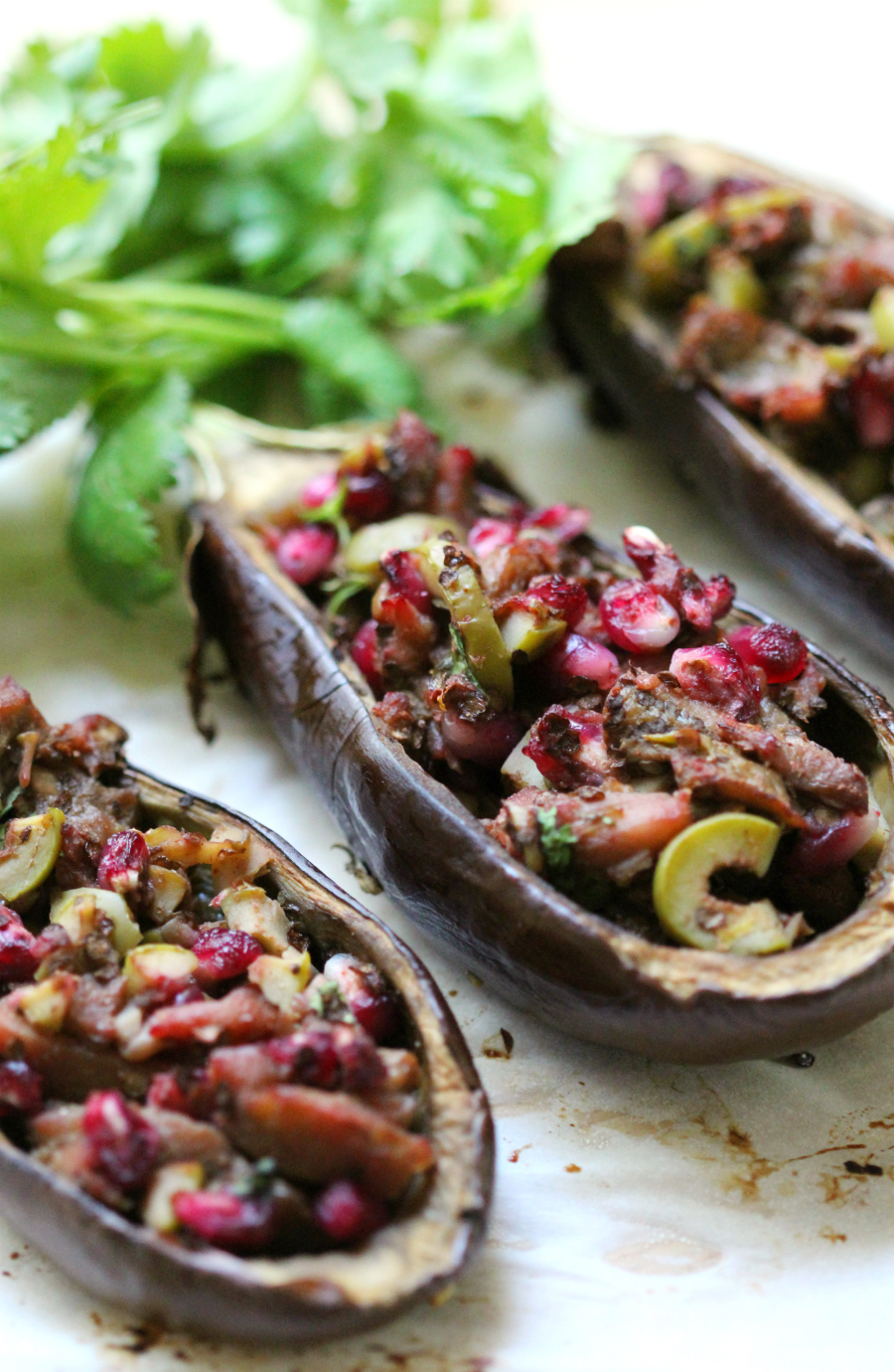 Middle Eastern Twice-Baked Baby Eggplants | Strength and Sunshine @RebeccaGF666 Flavorful Middle Eastern Twice-Baked Baby Eggplants make a delicious gluten-free, vegan, paleo, and allergy-free appetizer or side dish. An easy plant-based recipe that will wow the tastebuds with new exciting flavors!