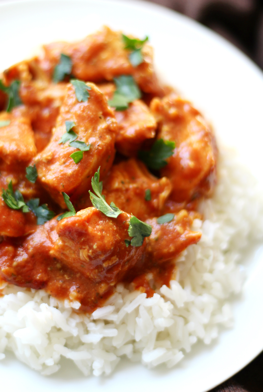 Chicken Tikki Masala (Gluten-Free, Dairy-Free, Paleo) | Strength and Sunshine @RebeccaGF666 Chicken Tikki Masala is a classic Indian dish now with a gluten-free, dairy-free, paleo, and allergy-friendly recipe! With a creamy tomato and coconut yogurt sauce, this comforting dish will make a great healthy weeknight dinner that packs in the flavor!