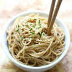 Cold Sesame Peanut Noodles (Gluten-Free, Vegan)
